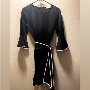 NY&C Black Mid Length Peplum Dress